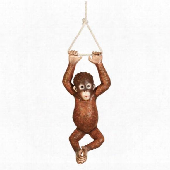 "Pongo, The Hanging Baby Orangutan"" Statue"