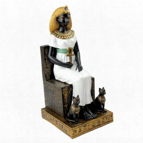 Queen Cleopatra On The Throne Of Egypt Statue