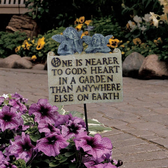 Raphaelian Angels Garden Ground Stake And Wall Plaque