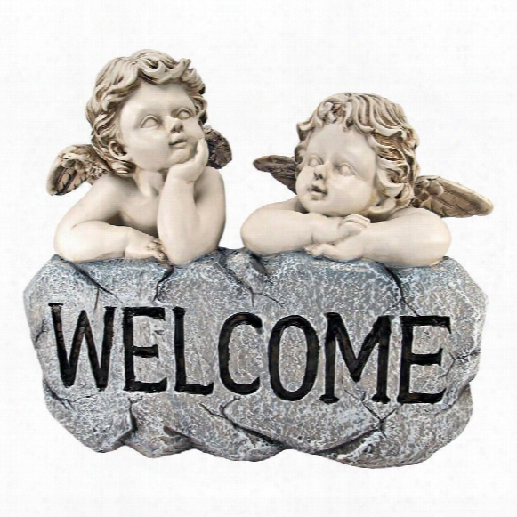 Raphael's Cherub Twins Welcome Statue