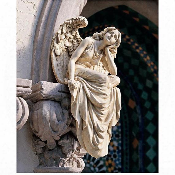 Resting Grace Sitting Angel Sculpture: Large