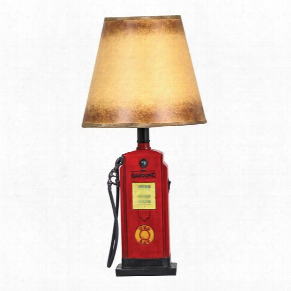 Retro Gasoline Pump Table Lamp