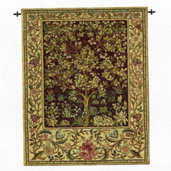 Ruby Tree Of Life Wall Tapestry: Large
