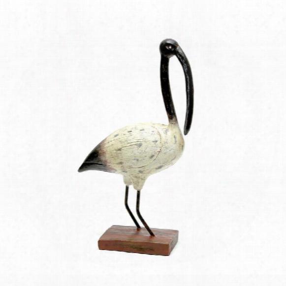 Shore Bird Black Beak Ibis Statue