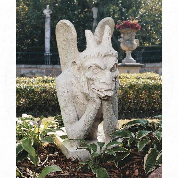 Spitting Gargoyle Of Notre Dame Statue, Historic Direct Casting