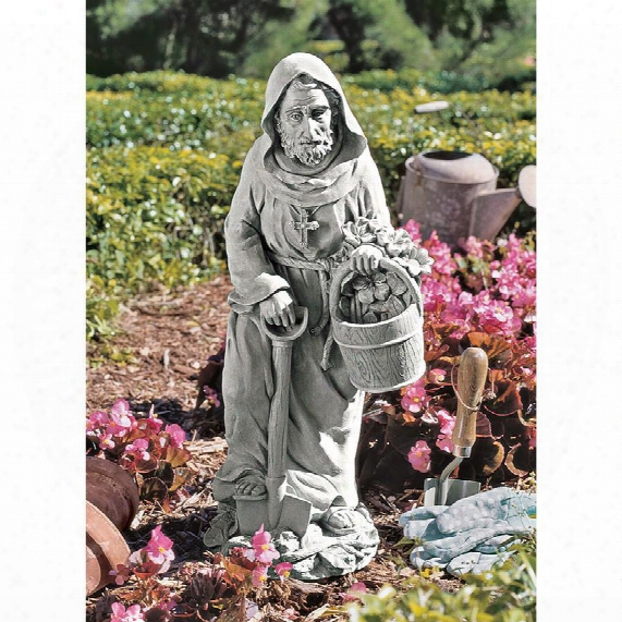 St. Fiacre, The Gardener's Patron Saint Statue: Large
