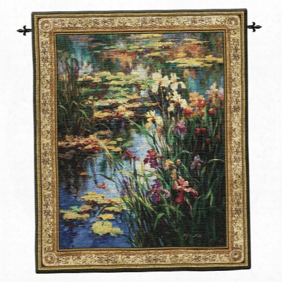Summer Lily Landscape Wall Tapestry: Large