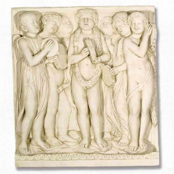 Tambourines Cantoria Religious Sculptural Wall Frieze