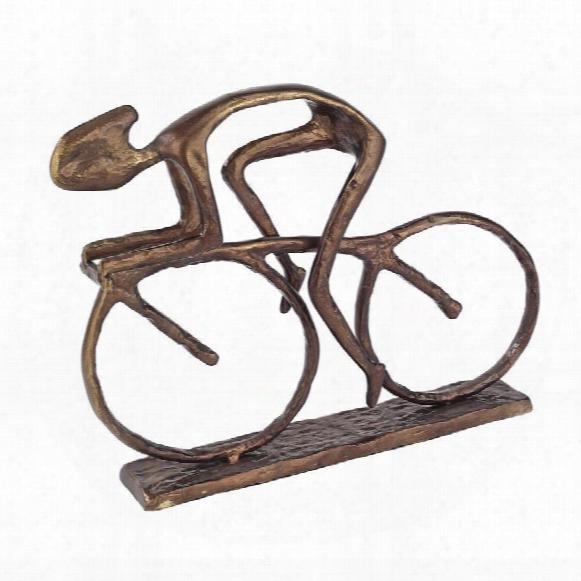 The Champion Cyclist Cast Metal Bike Racer Statue