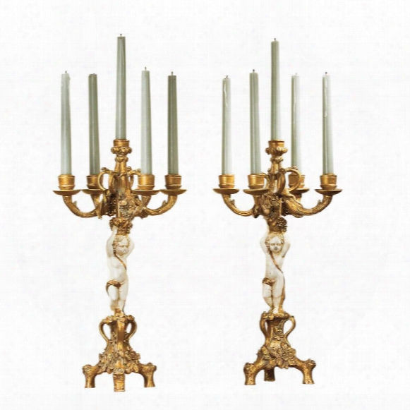 The Cherub's Harvest Candelabra Pair