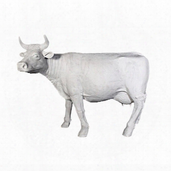 The Grand-scale Wildlife Animal Collection: Holstein Cow Statue: Unpainted