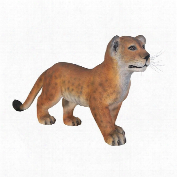 The Grand-scale Wildlife Animal Collection Lion Cub Statue: Standing