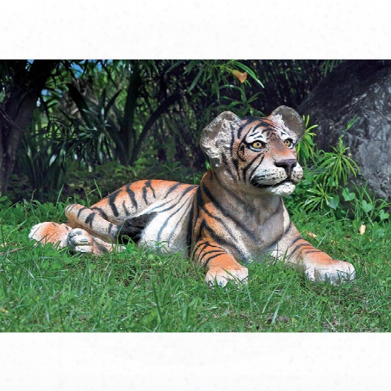 The Grand-scale Wildlife Animal Collection: Lying Down Bengal Tiger Cub Statue
