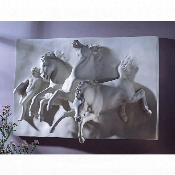 The Horses Of Anahita Wall Sculpture: Original