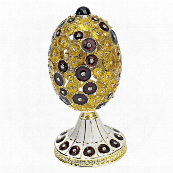 "The Lepridae"" Faberge-style Enameled Egg: Merlot"