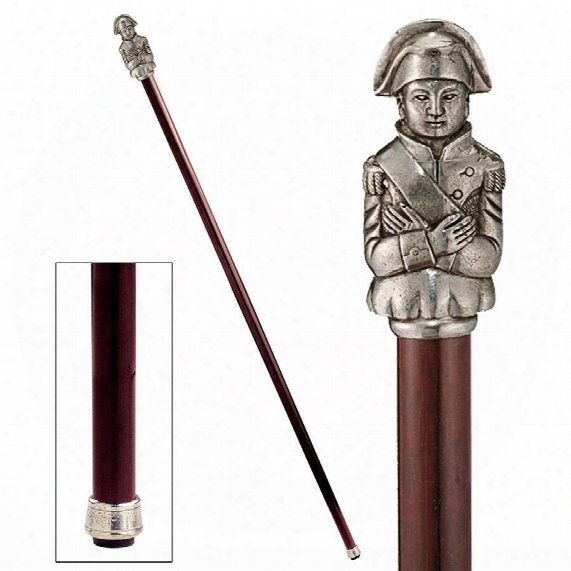 The Padrone Collection: Napoleon Pewter Walking Stick