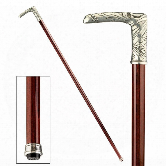 The Padrone Collection: Tennyson Pewter Walking Stick