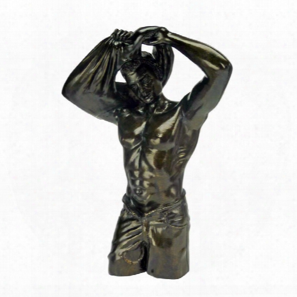"The Suave Stretch"" Nude Male Statue"