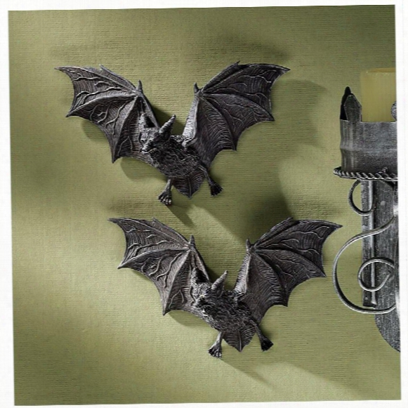 The Vampire Bats Of Castle Barbarosa Wall Sculptures: Set Of 2