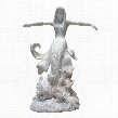 Ocean's Queen Mermaid: Bonded Marble Resin Statue