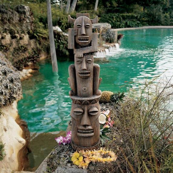 Tiki Gods Statue: Gods Of The Three Pleasures