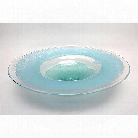 "Tuari 18"" Hand-blown Glass Bowl"
