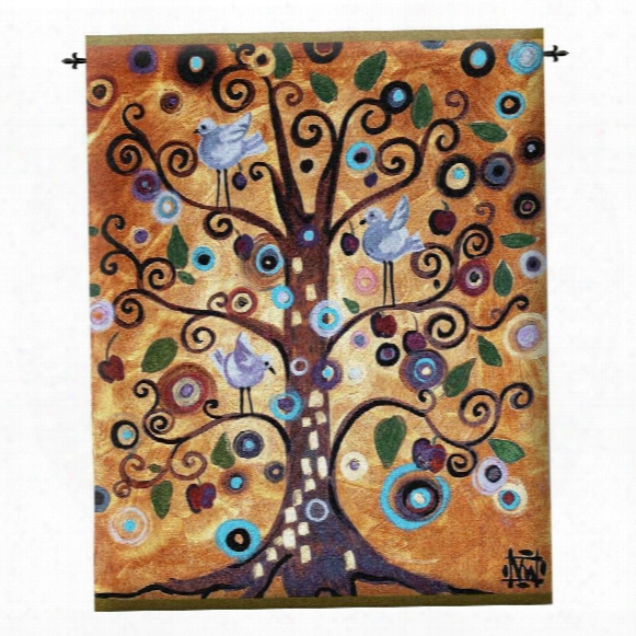 Untitled From The Tree Of Life Contemporary Wall Tapestry