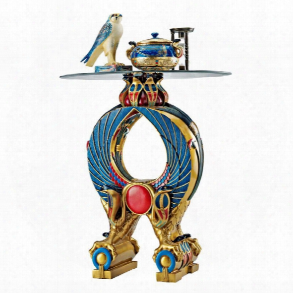 Wings Of Horus Egyptian Altar Side Table