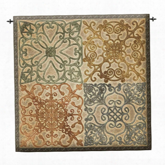 Wrought Iron Elegance Wall Tapestry: Large