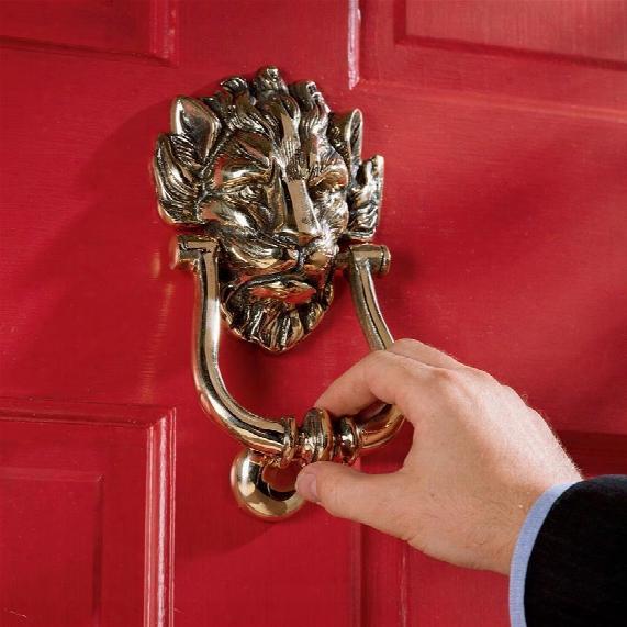 10 Downing Street Lion Authentic Brass Door Knocker