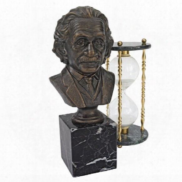 Albert Einstein Cast Iron Sculptural Bust