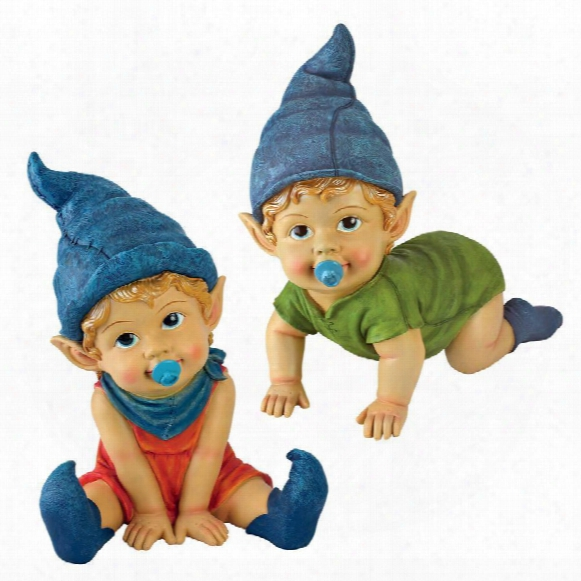 Archibald And Blaze The Baby Gnome Statues