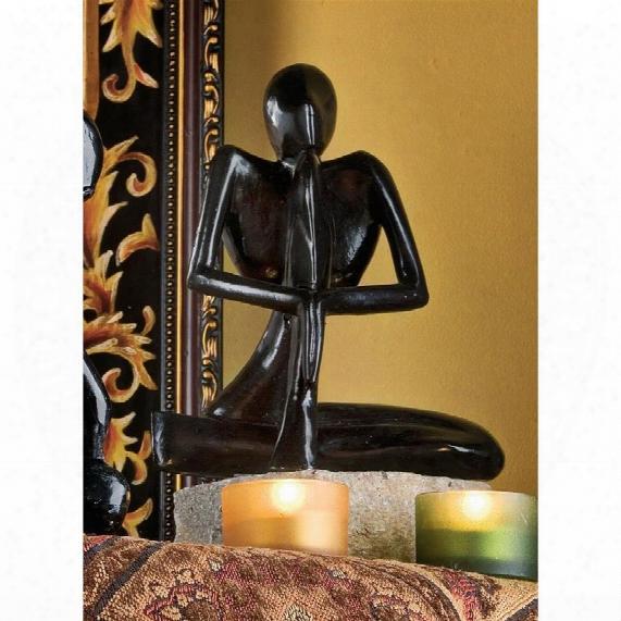 Authentic Foundry Iron Balinese Yogi: Meditation Iron Sculpture