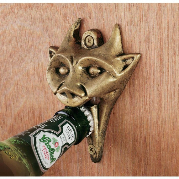 Authentic Iron Gargoyle Bottle Opener