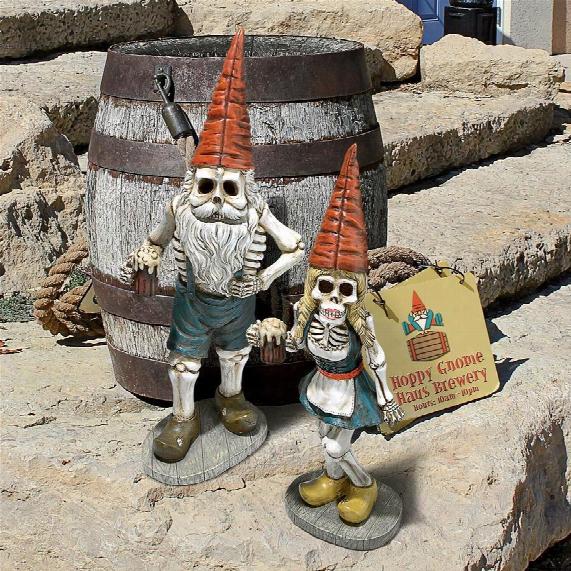 "Bavarian Oktoberfest Skeleton Gnomes"" Collection"