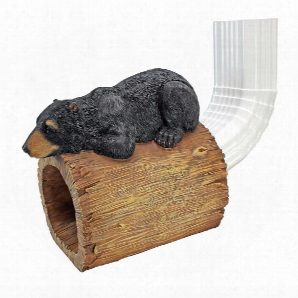Black Bear Gutter Guardian Downspout Statue