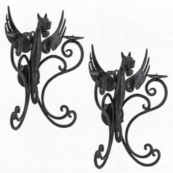 Castle Dragon Wall Sconces: Set Of 2