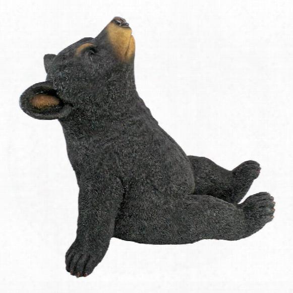 "Catching Rays"" Bear Cub Statue"