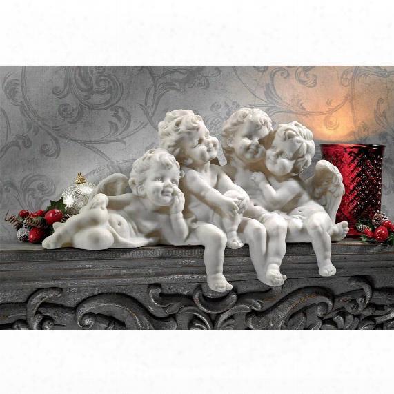 "Cherub Conclave"" Shelf Sitting Angel Sculpture"