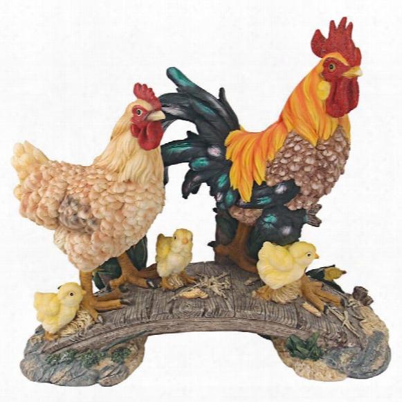 Chickens Bridging The Roost Garden Statue
