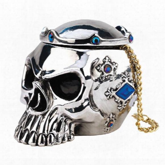 "Chrome Dome"" North-european Skull Box"