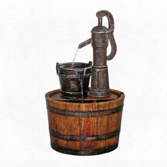 Cistern Well Pump Barrel Garden Fountain