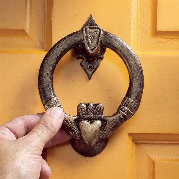 Claddagh Authentic Foundry Iron Door Knocker