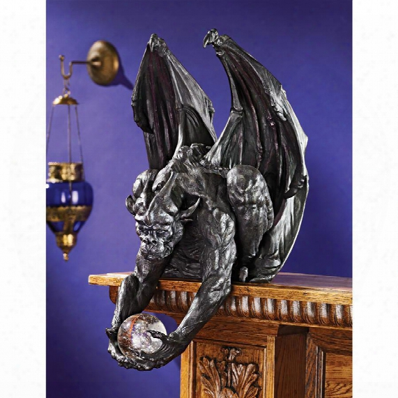 Clutch, Keeper Of The Mystic Orb Gargoyle Sitter Statue