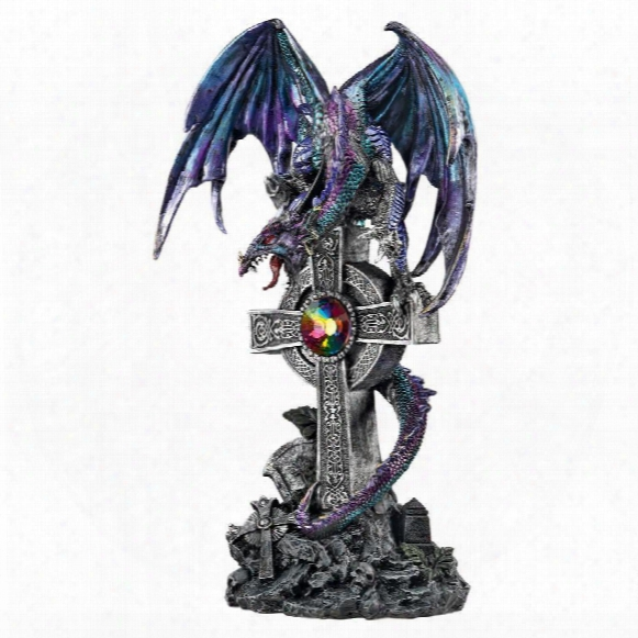 Cryptic Shadow Celtic Dragon Statue By Artist Liam Manchester