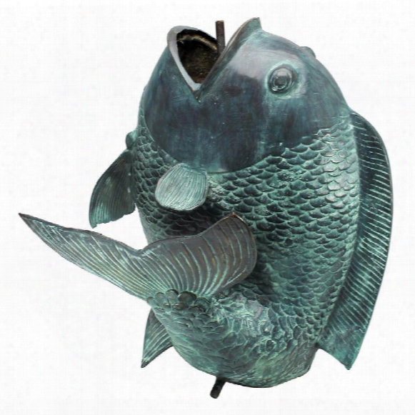 Dancing Asian Fish Bronze Spitting Garden Statue Collection: Giant