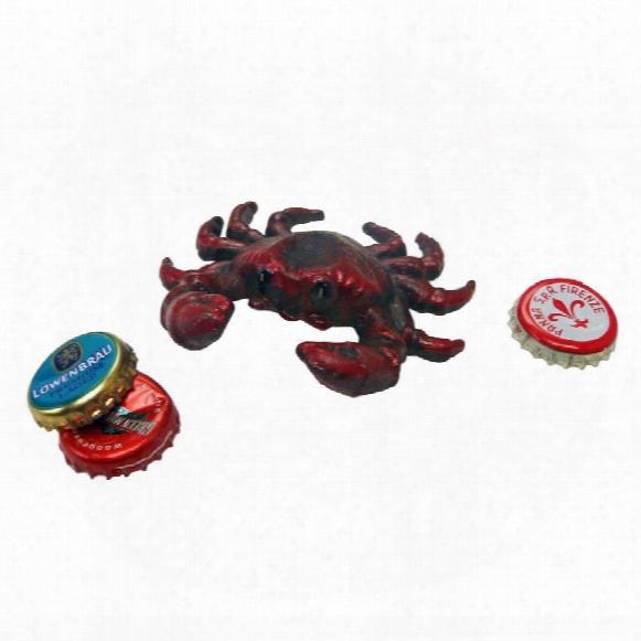 Deep Sea Red Crab Cast Iron Bottle Opener