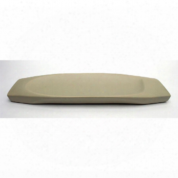 "Delsin Hand-crafted Ceramic 17"" Taupe Dish"
