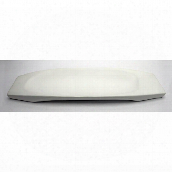 "Delsin Hand-crafted Ceramic 21"" White Dish"