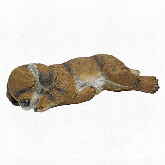 Dozing Doggie Sleeping Puppy Dog Statue